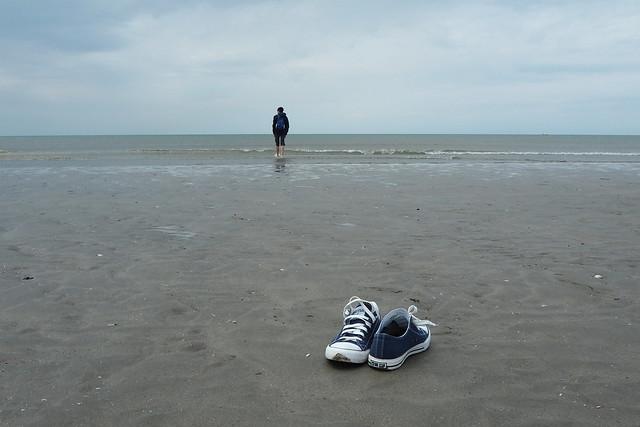 Пляж в IJmuiden(Эймёйден)
